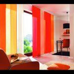 Long orange drapes