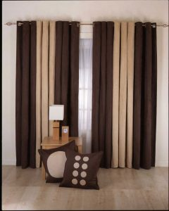 Dark brown drapes
