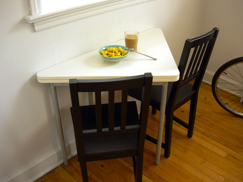 Triangle Kitchen Table Design Ideas ~ Interesting folding tables for small spaces interior