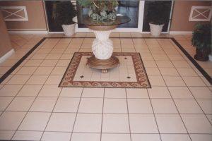 Tiles in hallway