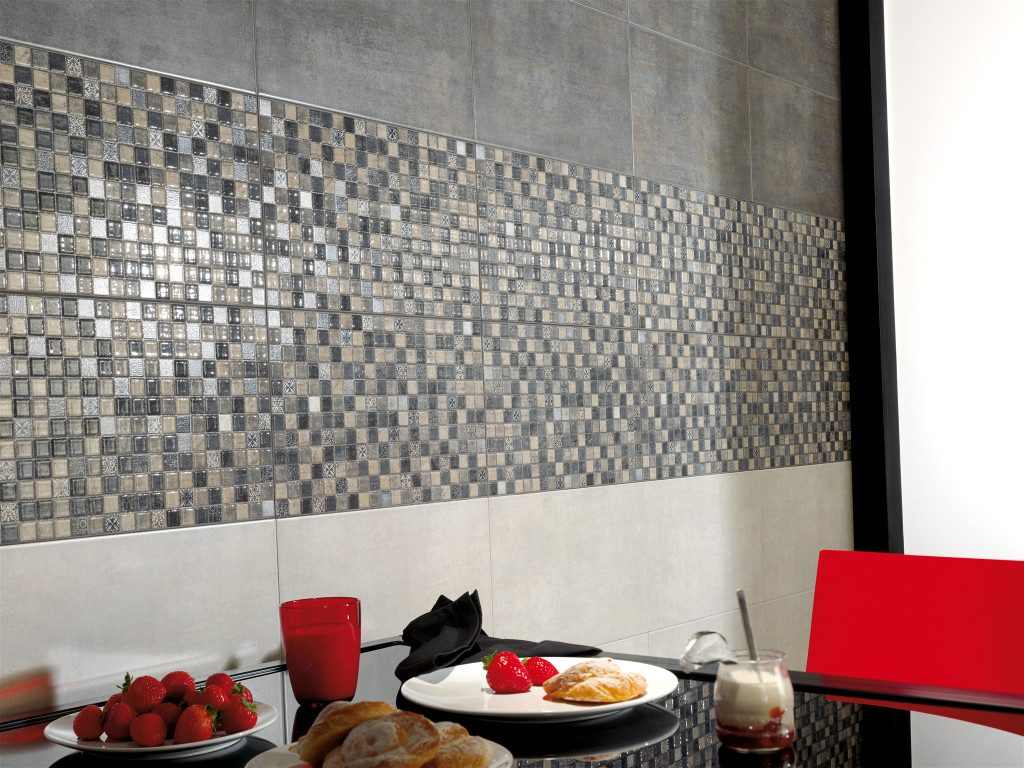 Mosaic tiles in a kitchen