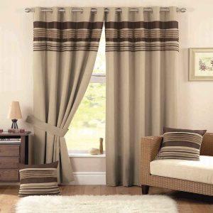 Beautiful brown curtain