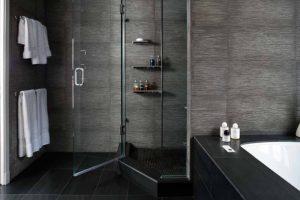 Big tiles for bathroom