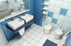 Bright bathroom decor