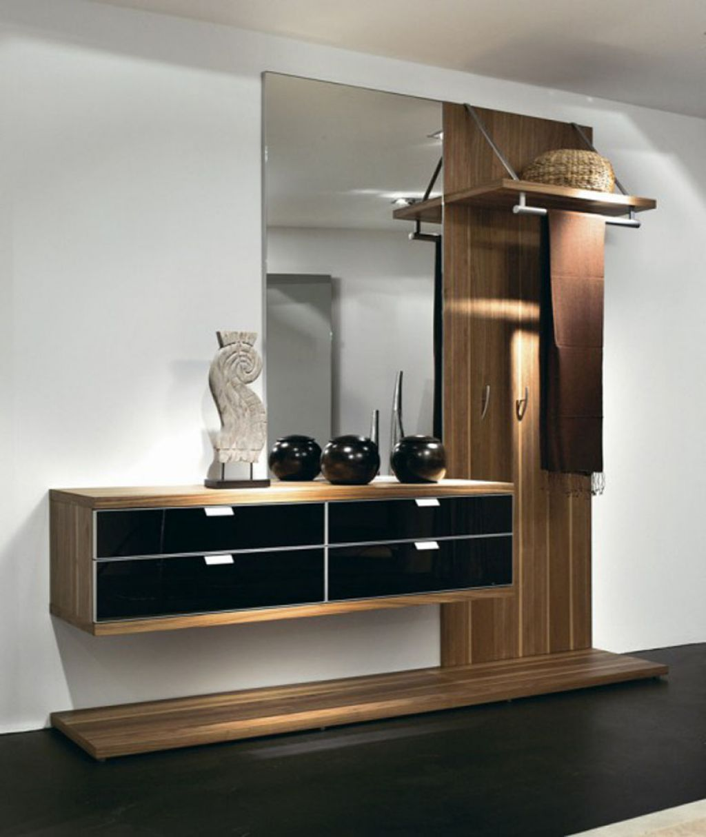 Chic wooden and-black furniture