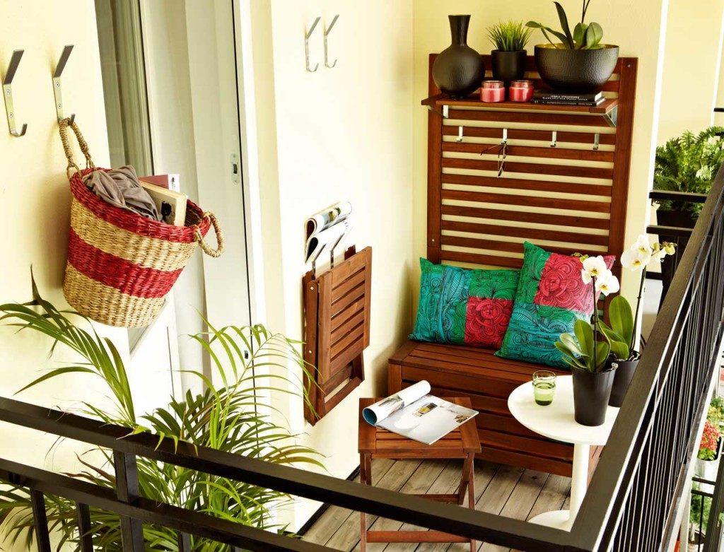 Colorful small balcony