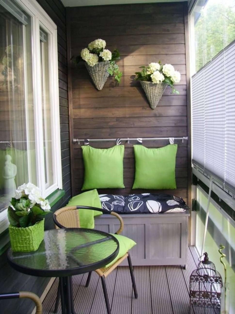 Интерьер маленького балкона (фото) дизайн небольшой лоджии р.