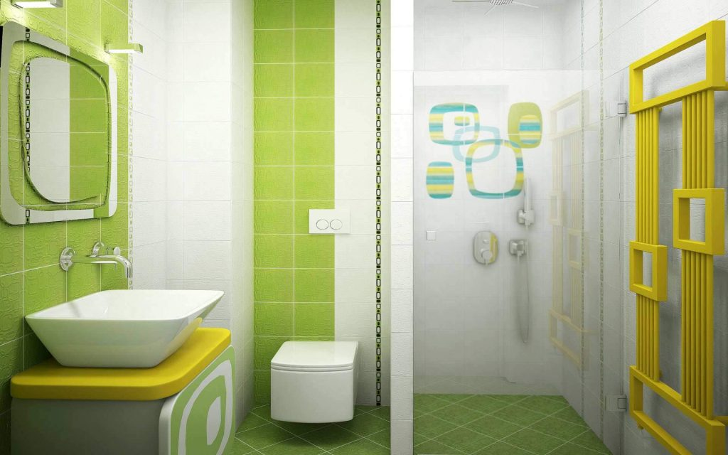 Bright bathroom decor