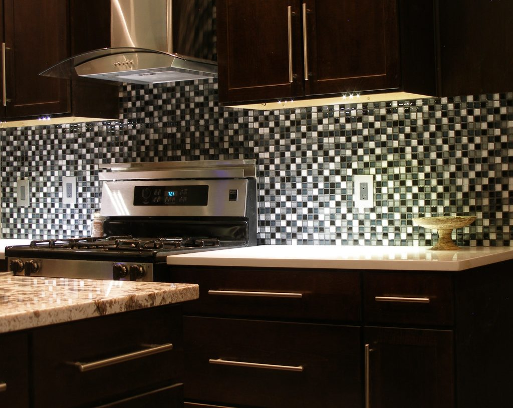 Wall tile in a kitchen