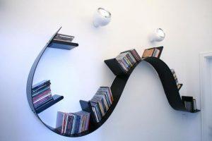 Spiral bookshelves