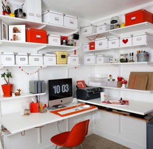 Office bookshelves decor