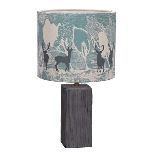 Lampshade with reindeer