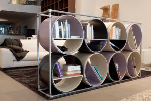 Cilinder bookshelves