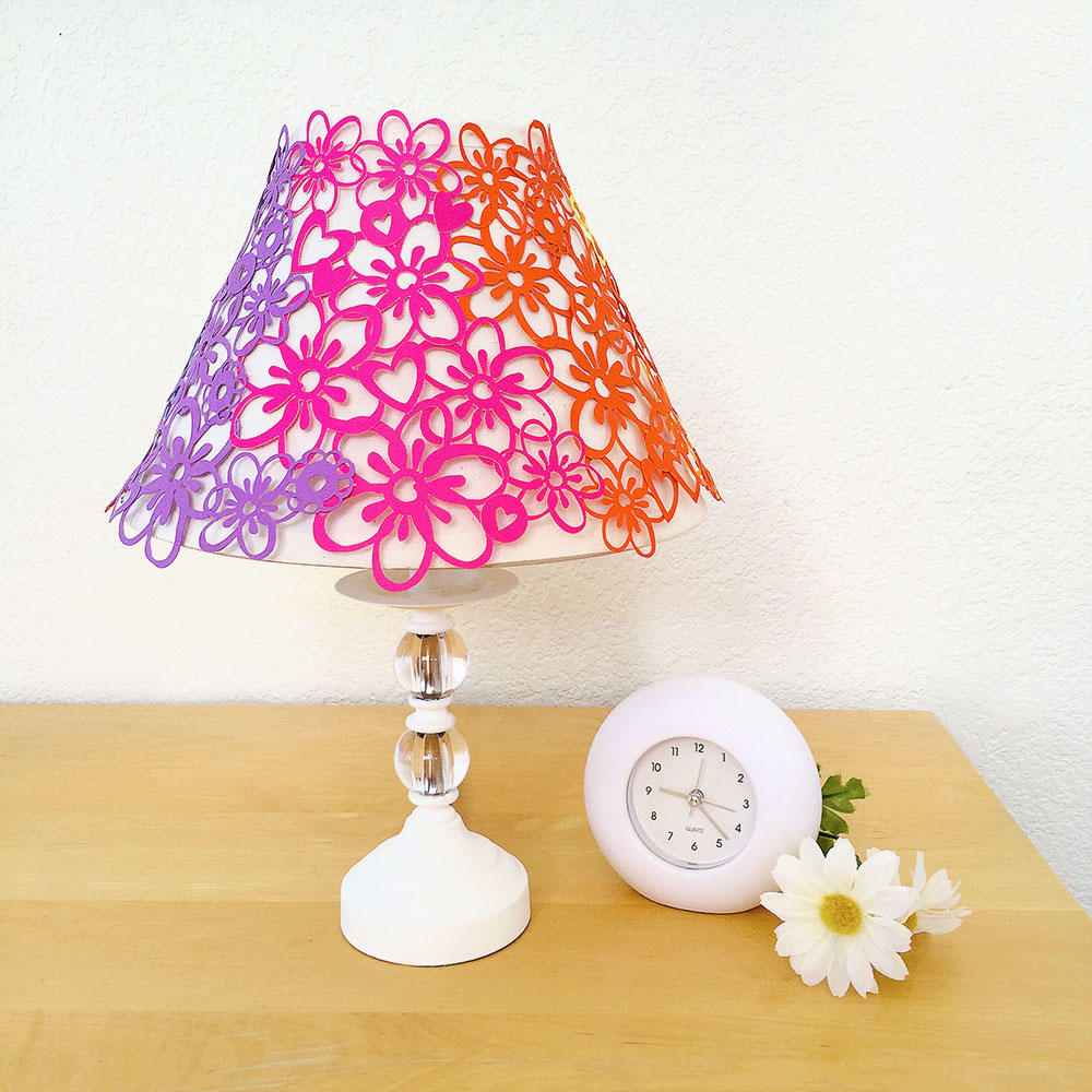 Pretty flower lampshade