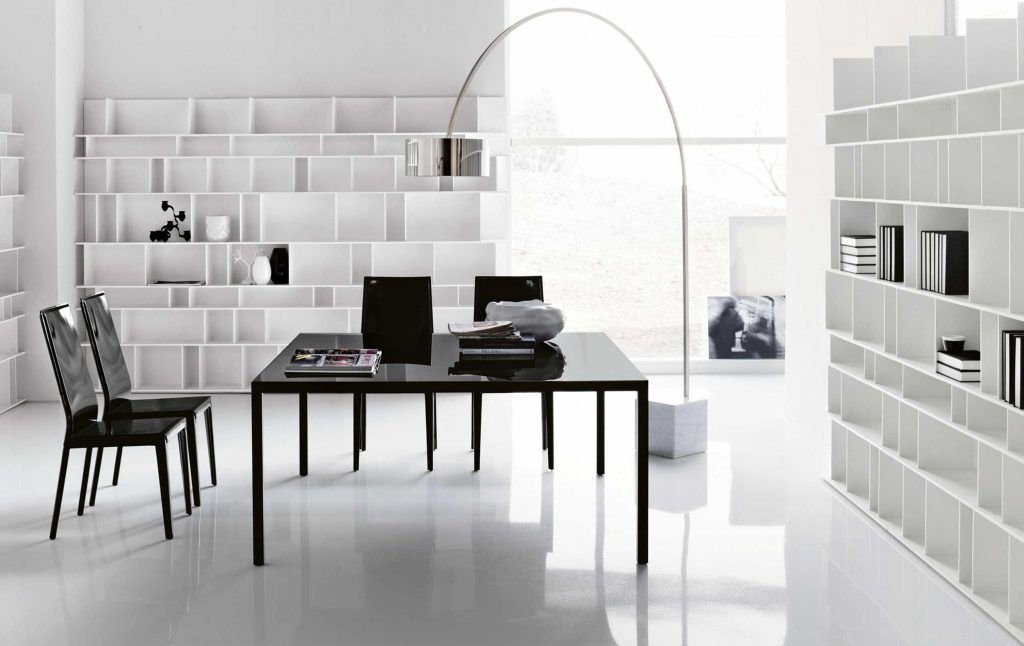 Awesome modern office shelves