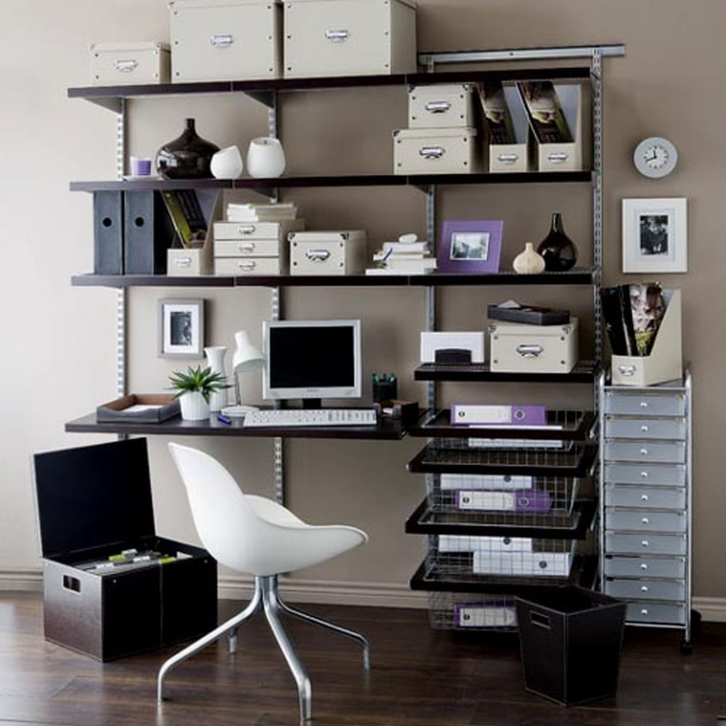 Office design wall shelves