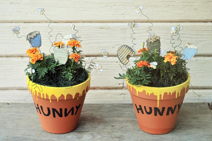 honey flower pot