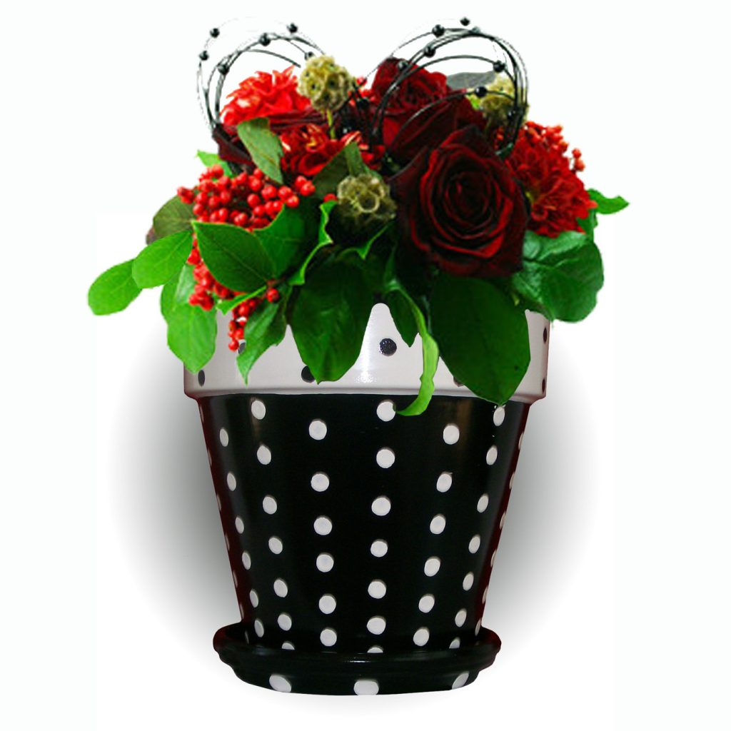 dotty flower pot
