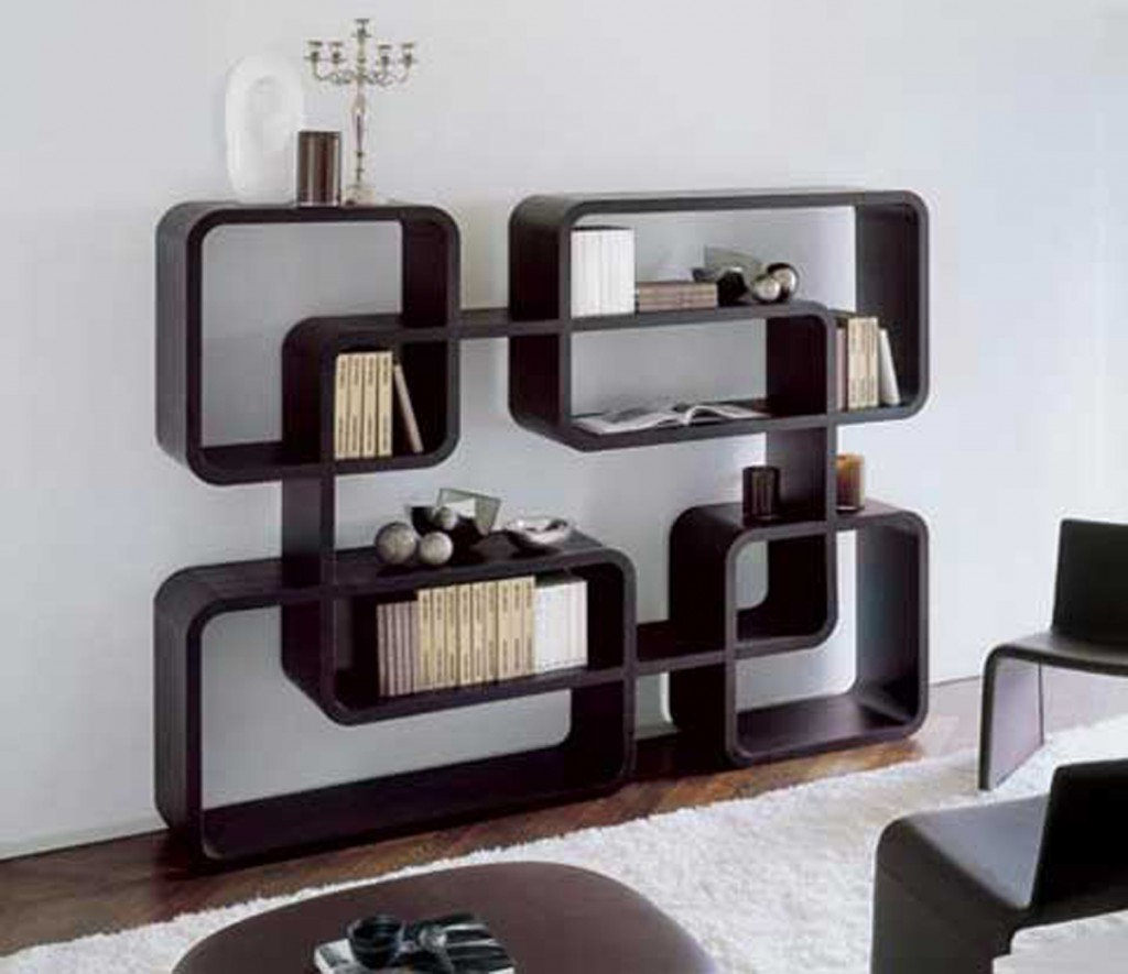 Elegant Library Bookshelves. Interior Divine Decorating