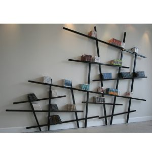 Mikado bookshelf design