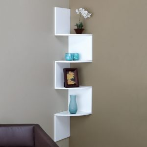 Modern shelves display