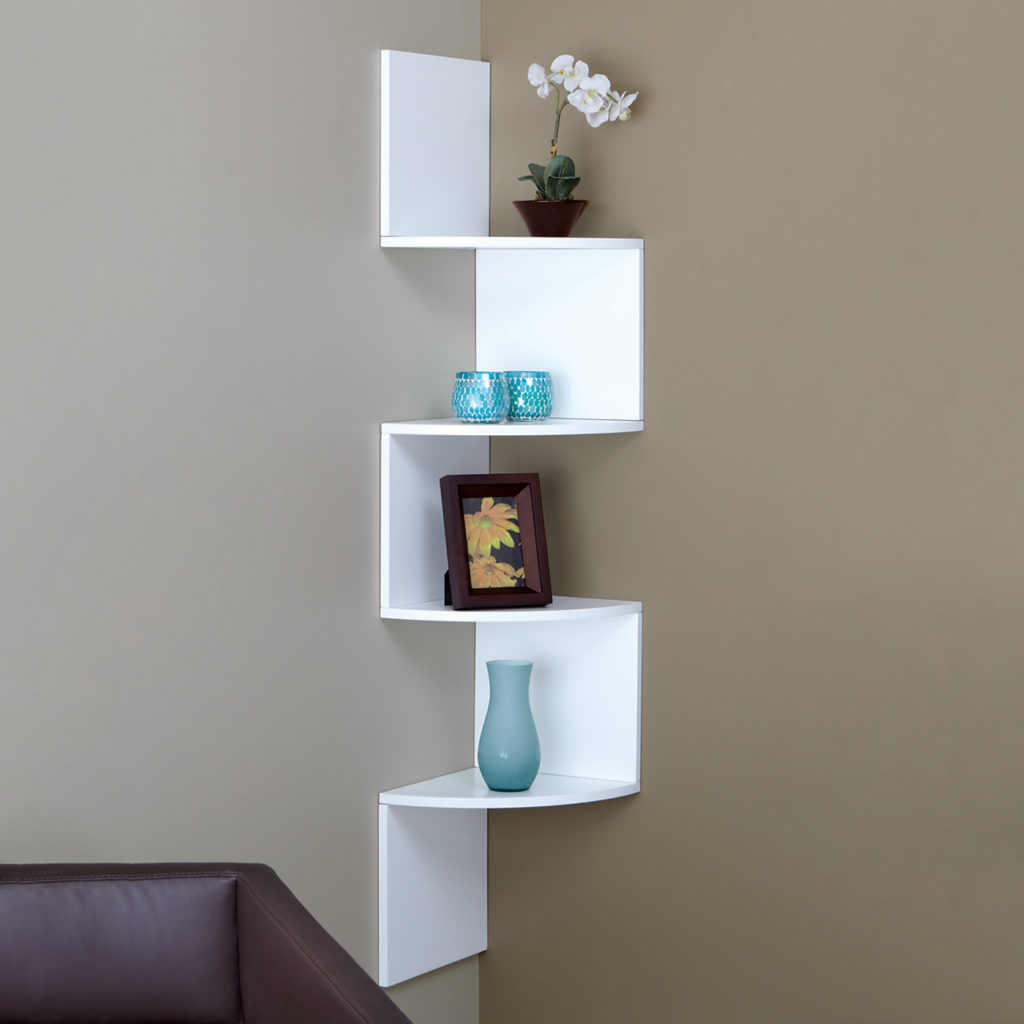 Modern shelves display
