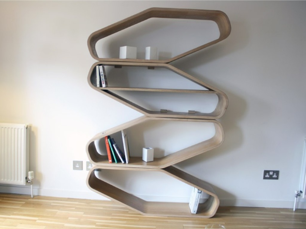Spiral Bookshelves Wall Hanging Shelves