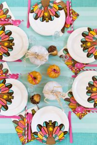 bright and colorful kids table
