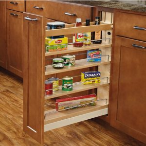 Pull out slim pantry cabinet