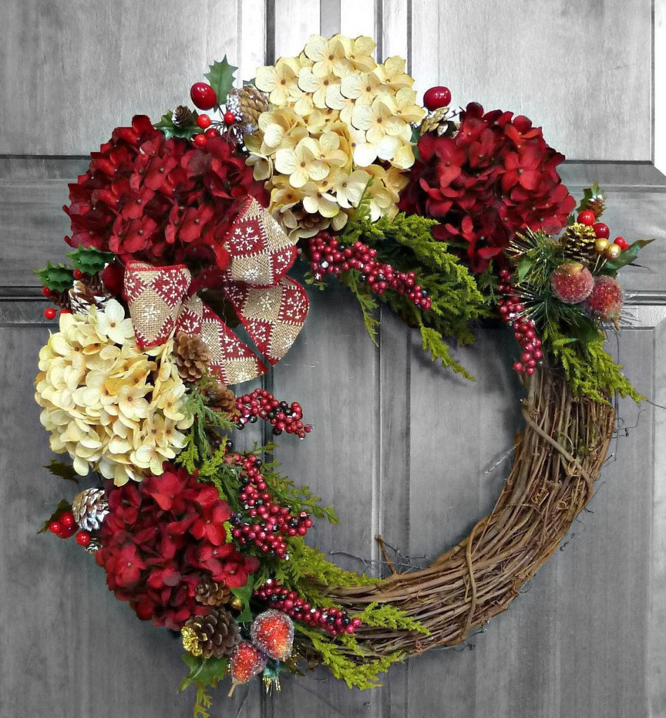 wreath with bow and flower