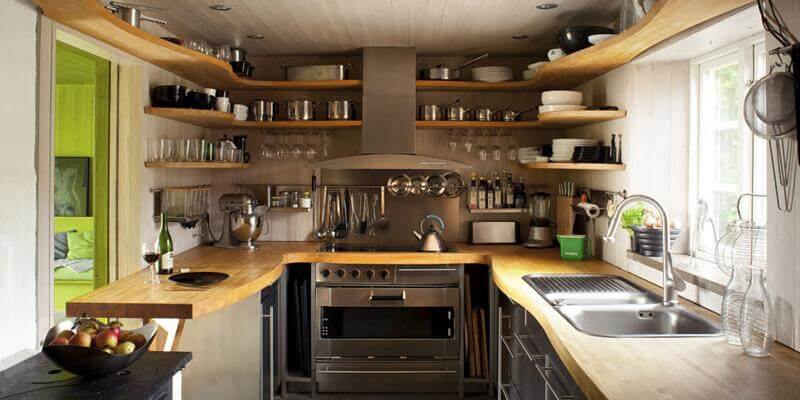 Shelves for a small kitchen & Eight great ideas for a small kitchen | Interior Design Paradise