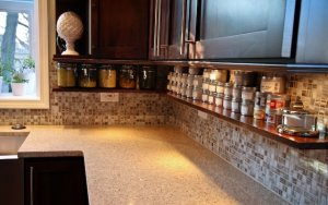 Shelve for spices below the cabinets
