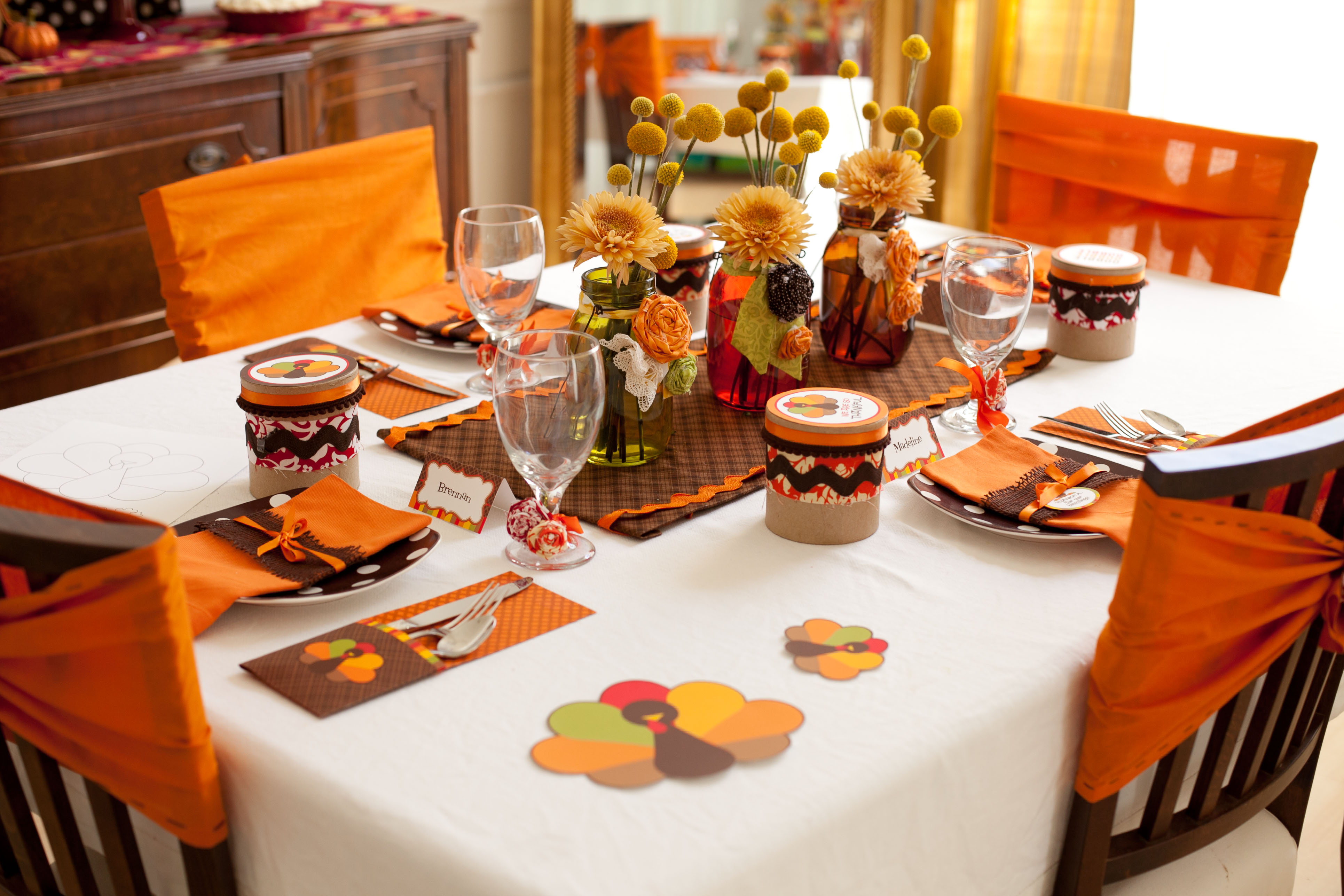 Diy thanksgiving decor kids - Thanksgiving Kids Table