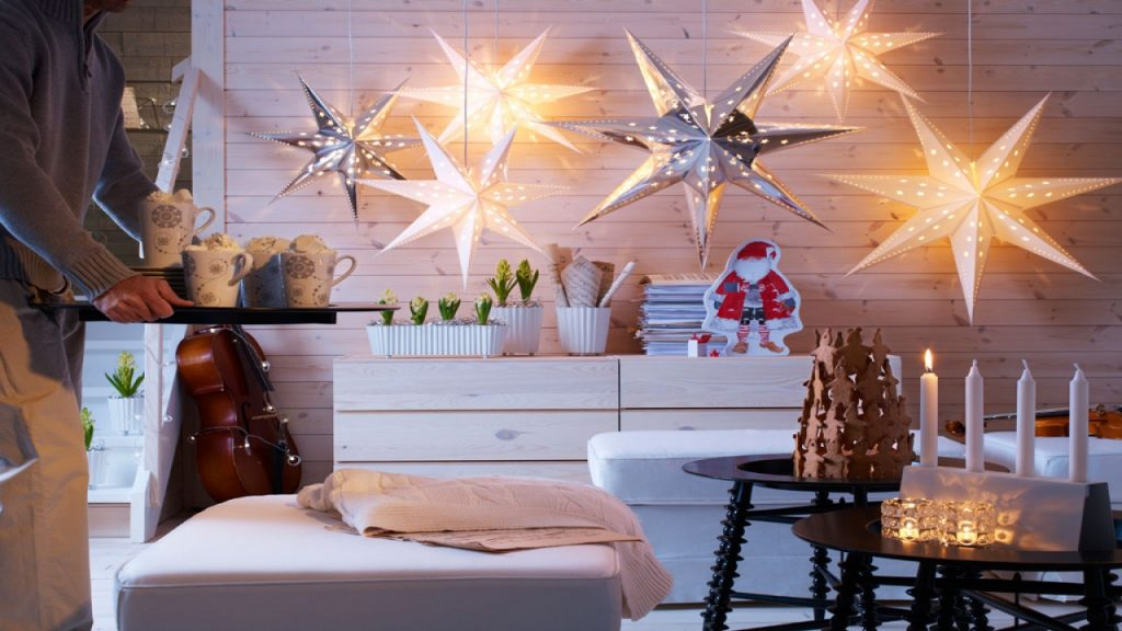 The light of Christmas in Room