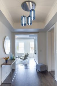 Chandelier in entrance hall
