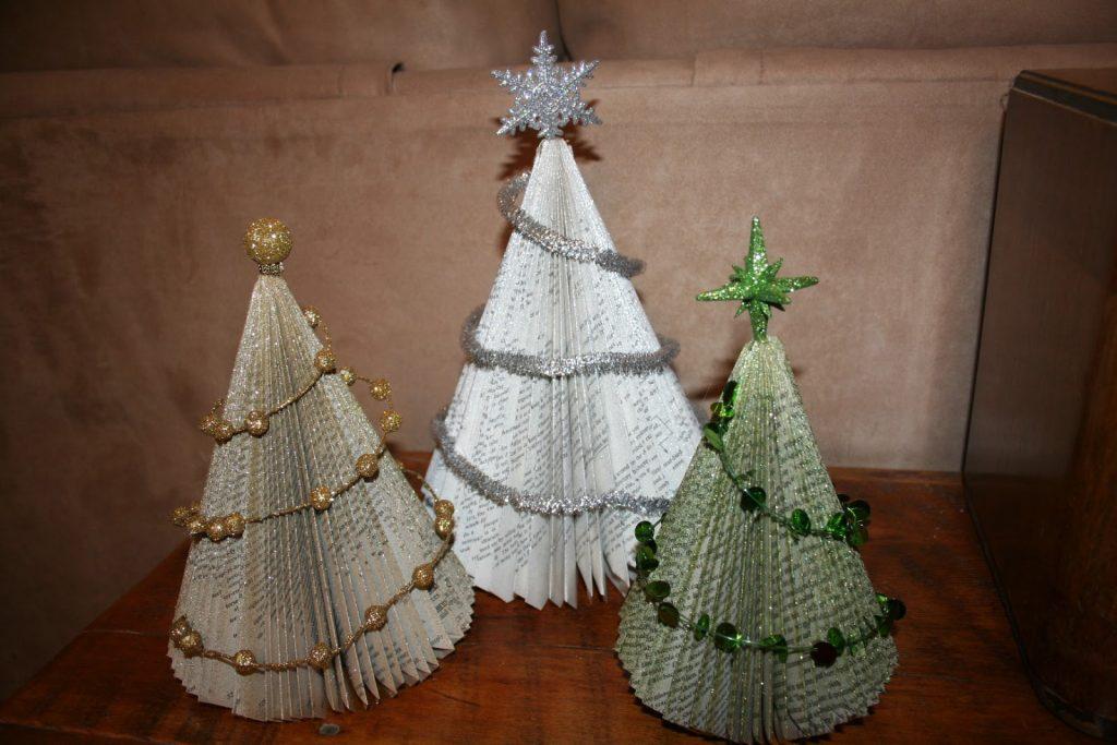 Christmas tree made of books