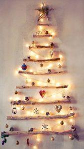 Christmas-tree-made-with-wood-logs