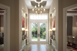 Great light in an entrance hall