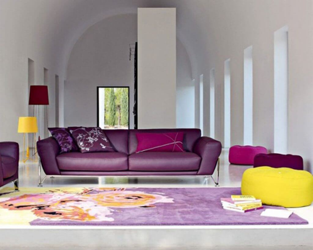 Amazing purple design living room