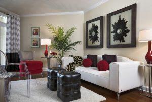 Classic black-white living room