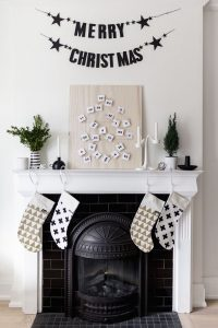 home decor christmas fireplace