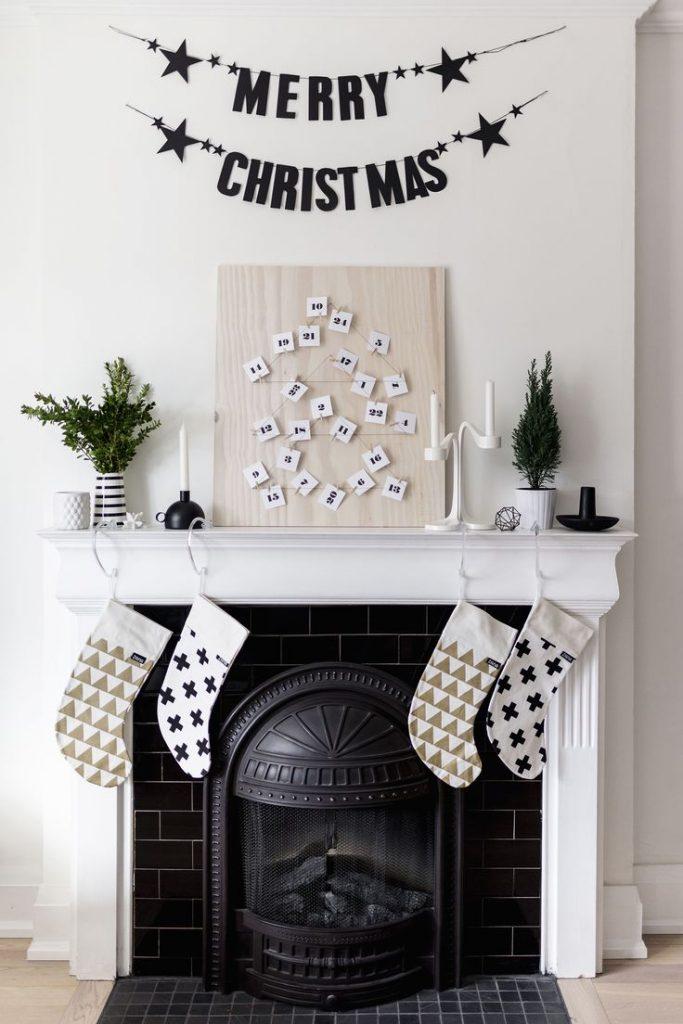 home decor christmas fireplace