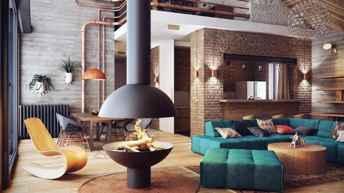 Industrial style living room Which living room