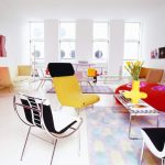 Lively and colorful living room