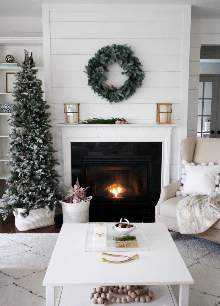 mantel fireplace for Christmas