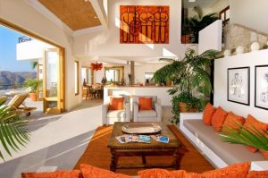 Open space with orange details