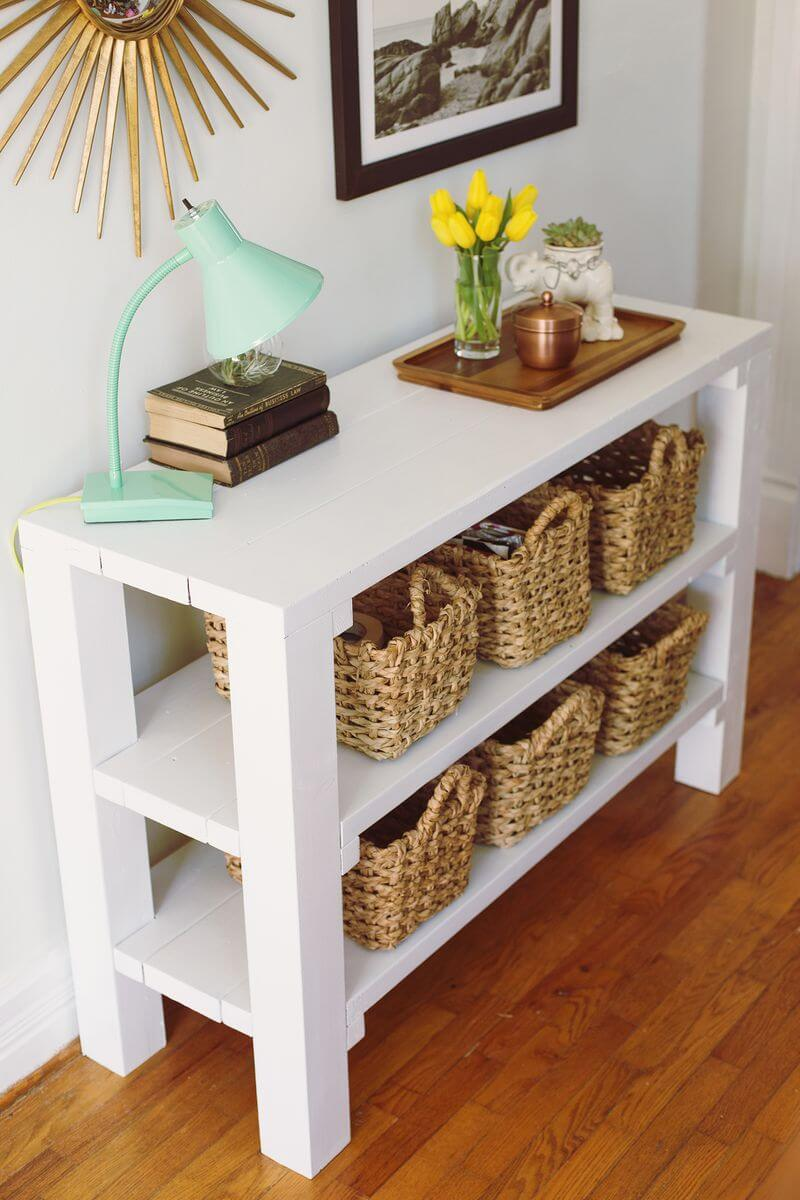 Entrance hall shoe table