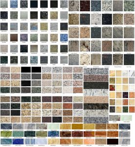 Marble sample colors