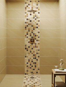 Mosaic marble bathroom