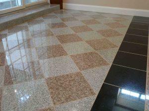 Granite floor in hallway